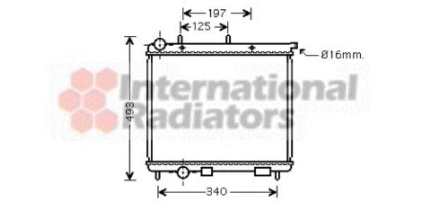 Radiateur, refroidissement du moteur - VAN WEZEL - 09002190