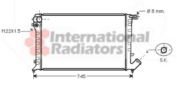 Radiateur, refroidissement du moteur - VAN WEZEL - 09002193