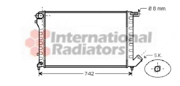 Radiateur, refroidissement du moteur - VAN WEZEL - 09002195