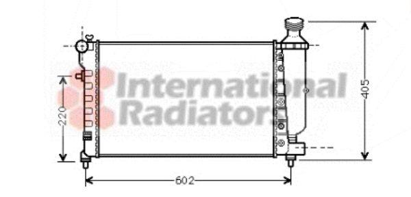 Radiateur, refroidissement du moteur - VAN WEZEL - 09002196