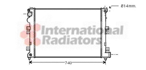 Radiateur, refroidissement du moteur - VAN WEZEL - 09002208