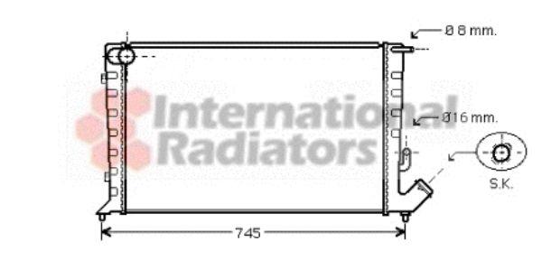 Radiateur, refroidissement du moteur - VAN WEZEL - 09002211
