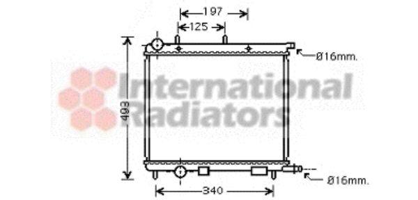 Radiateur, refroidissement du moteur - VAN WEZEL - 09002227