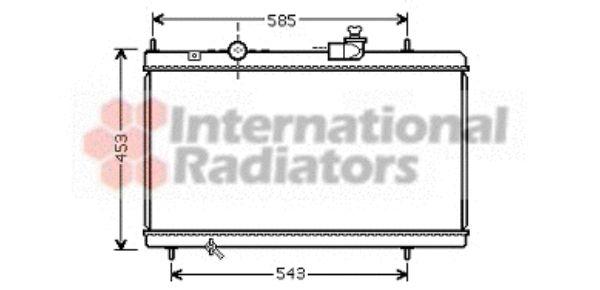 Radiateur, refroidissement du moteur - VAN WEZEL - 09002228