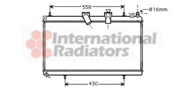 Radiateur, refroidissement du moteur - VAN WEZEL - 09002229