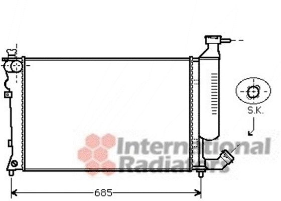Radiateur, refroidissement du moteur - VAN WEZEL - 09002259