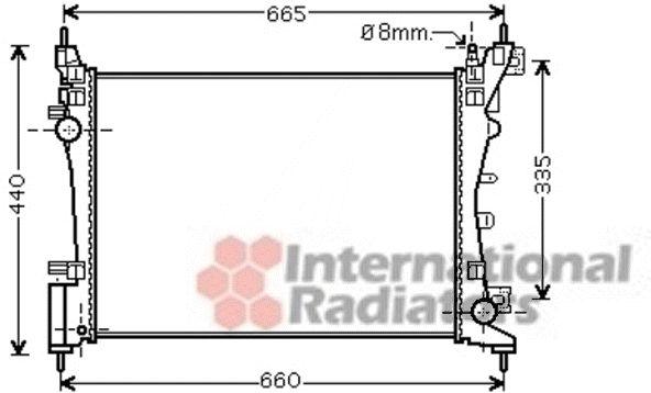 Radiateur, refroidissement du moteur - VAN WEZEL - 09002261