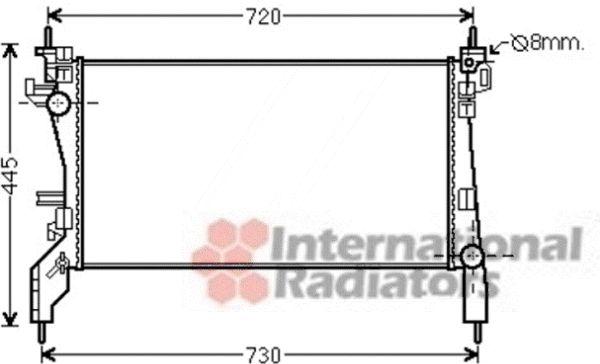 Radiateur, refroidissement du moteur - VAN WEZEL - 09002262