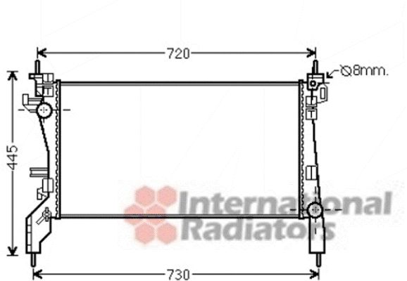 Radiateur, refroidissement du moteur - VAN WEZEL - 09002266