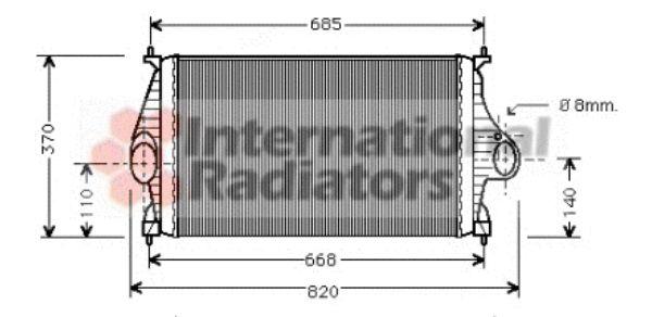 Intercooler, échangeur - VAN WEZEL - 09004050