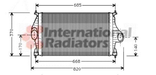 Intercooler, échangeur - VAN WEZEL - 09004081