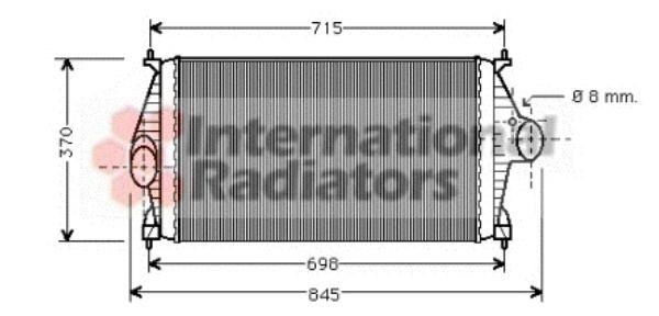 Intercooler, échangeur - VAN WEZEL - 09004126