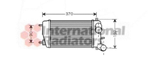 Intercooler, échangeur - VAN WEZEL - 09004212