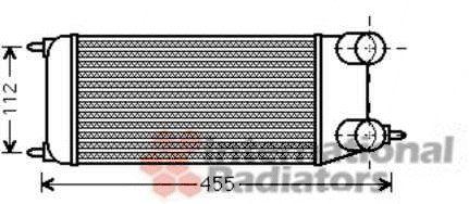 Intercooler, échangeur - VAN WEZEL - 09004264