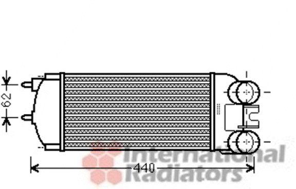 Intercooler, échangeur - VAN WEZEL - 09004269