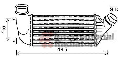 Intercooler, échangeur - VWA - 88VWA09004270