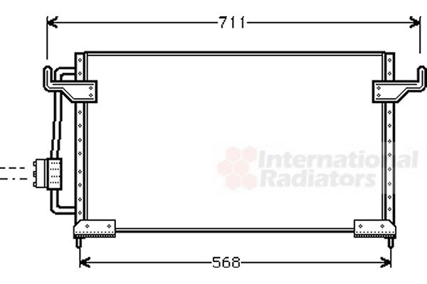 Condenseur, climatisation - VAN WEZEL - 09005085