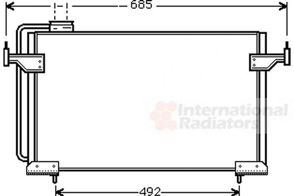 Condenseur, climatisation - VAN WEZEL - 09005087