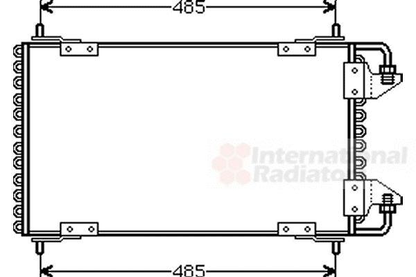 Condenseur, climatisation - VAN WEZEL - 09005091