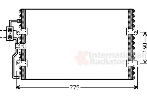 Condenseur, climatisation - VAN WEZEL - 09005093