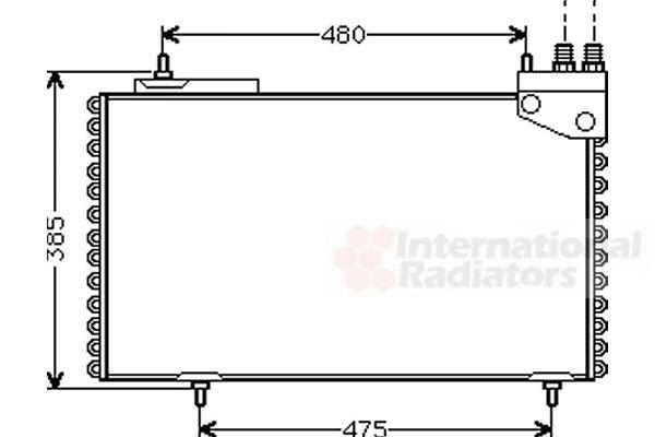 Condenseur, climatisation - VAN WEZEL - 09005094