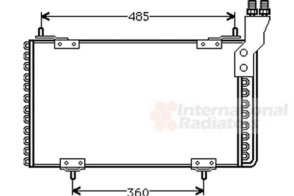 Condenseur, climatisation - VAN WEZEL - 09005096