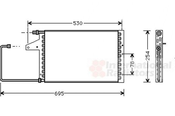Condenseur, climatisation - VAN WEZEL - 09005098