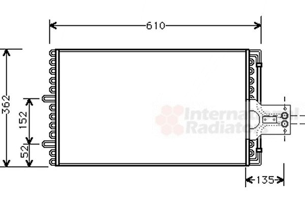 Condenseur, climatisation - VAN WEZEL - 09005099