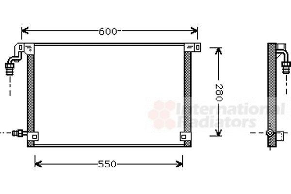 Condenseur, climatisation - VAN WEZEL - 09005131