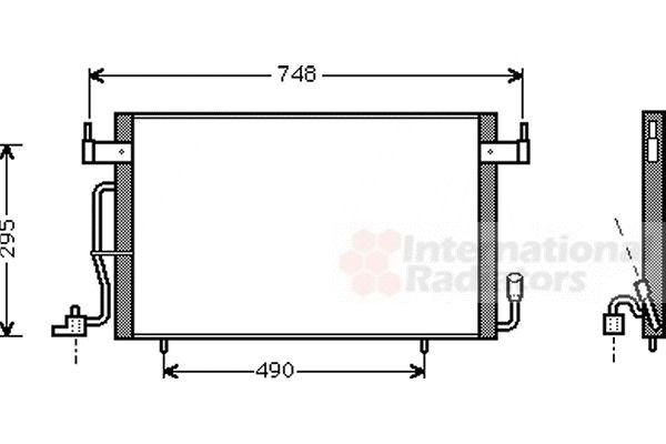 Condenseur, climatisation - VAN WEZEL - 09005166