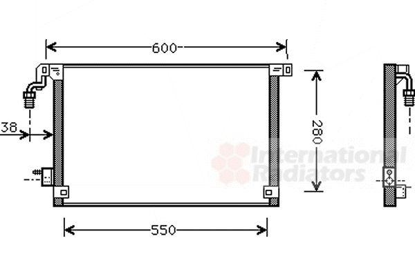 Condenseur, climatisation - VAN WEZEL - 09005172