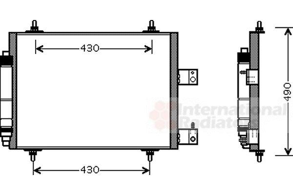 Condenseur, climatisation - VAN WEZEL - 09005213