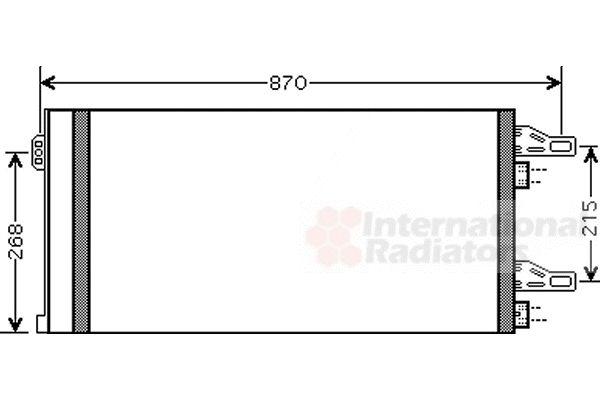 Condenseur, climatisation - VAN WEZEL - 09005246
