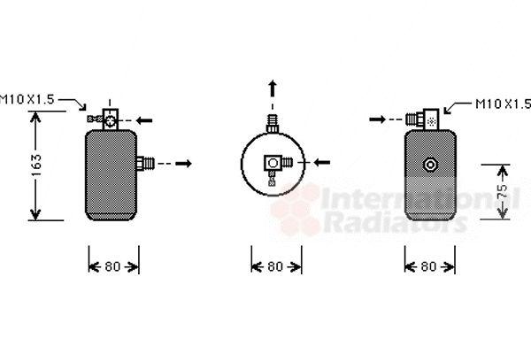 Filtre déshydratant, climatisation - VAN WEZEL - 0900D162