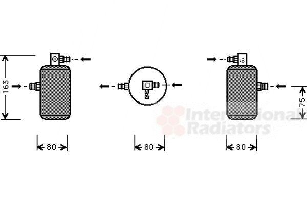 Filtre déshydratant, climatisation - VAN WEZEL - 0900D163
