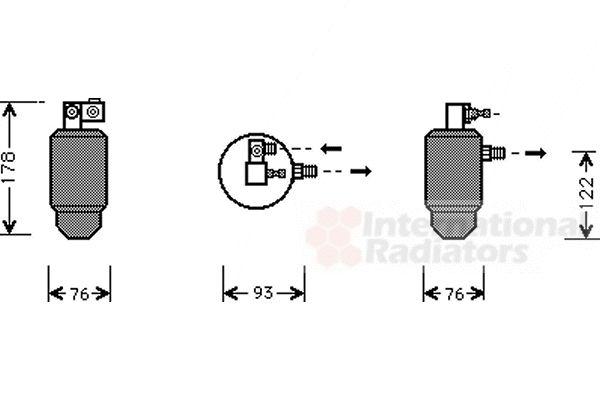 Filtre déshydratant, climatisation - VAN WEZEL - 0900D164