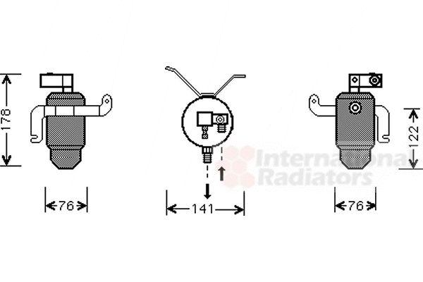 Filtre déshydratant, climatisation - VAN WEZEL - 0900D183
