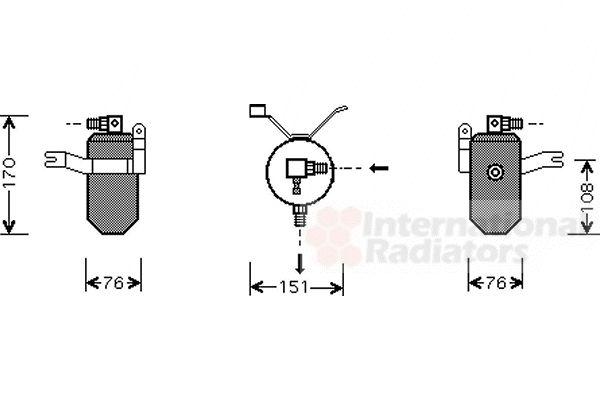 Filtre déshydratant, climatisation - VAN WEZEL - 0900D184