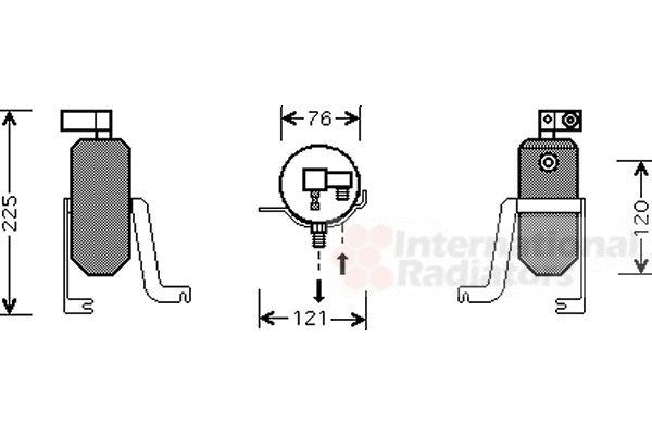 Filtre déshydratant, climatisation - VWA - 88VWA0900D185