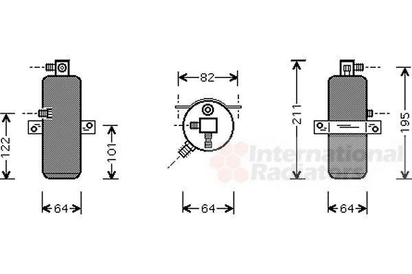 Filtre déshydratant, climatisation - VAN WEZEL - 0900D202