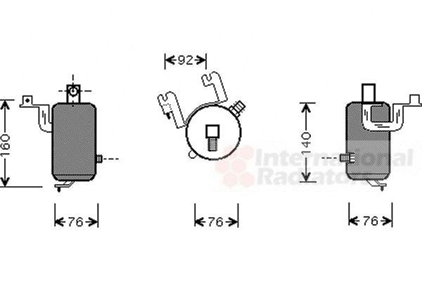 Filtre déshydratant, climatisation - VAN WEZEL - 0900D203