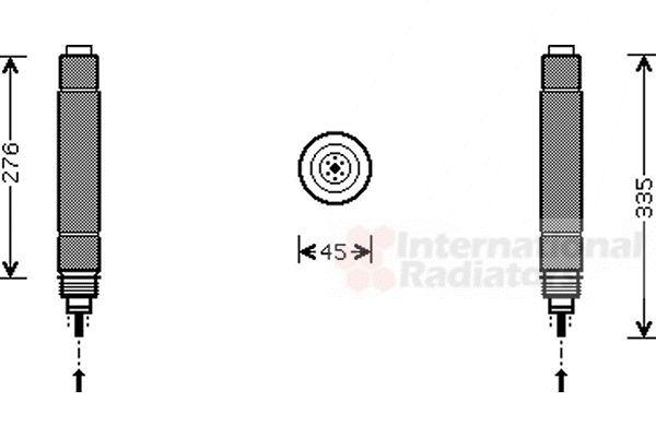 Filtre déshydratant, climatisation - VAN WEZEL - 0900D204