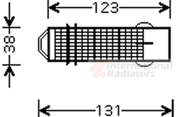 Filtre déshydratant, climatisation - VAN WEZEL - 0900D224