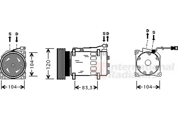 Compresseur, climatisation - VAN WEZEL - 0900K175