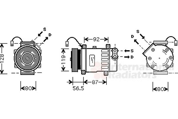 Compresseur, climatisation - VAN WEZEL - 0900K207