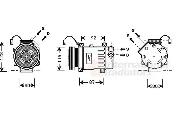 Compresseur, climatisation - VAN WEZEL - 0900K217