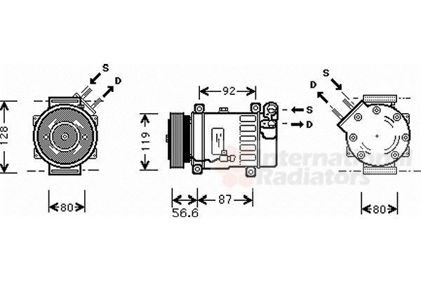 Compresseur, climatisation - VAN WEZEL - 0900K238