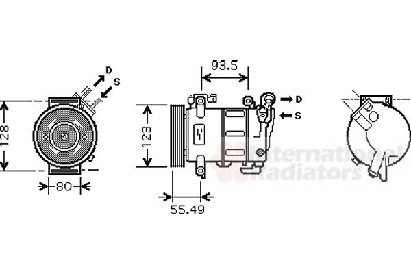 Compresseur, climatisation - VAN WEZEL - 0900K251