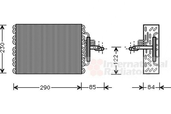 Evaporateur climatisation - VAN WEZEL - 0900V016