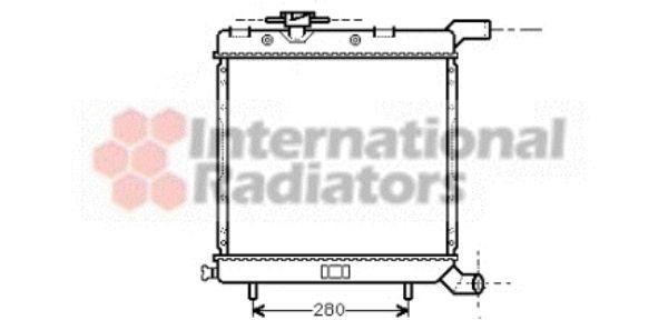 Radiateur, refroidissement du moteur - VAN WEZEL - 07002005